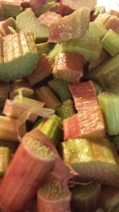 close up Rhubarb