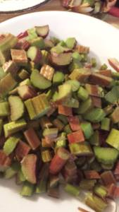 lots of chopped Rhubarb