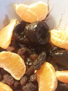 dried prunes raisins and oranges are all naturally sweet