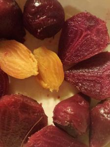 red and yellow beets