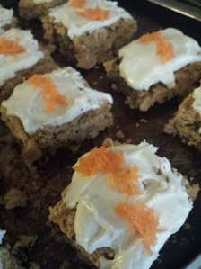 cauliflower carrot cake frosted