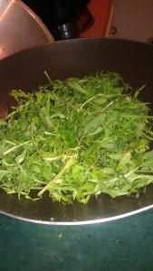 dandelion leaves before cooking