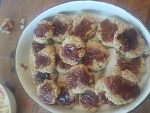 gluten free jam cookies