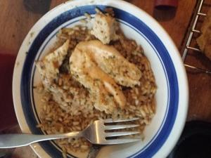 chicken and rissotto