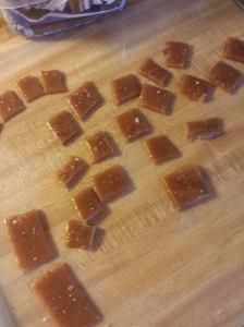 cut up salted caramel