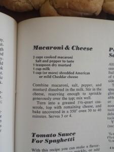 vintage recipe I used