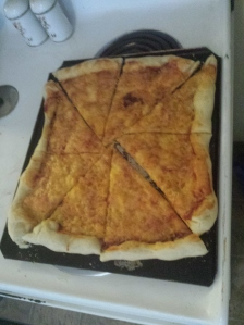 cheese pizza homemade dough
