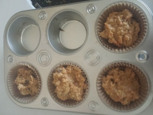 last 4 muffins before baking