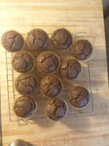 chocolate banana flour cupcakes