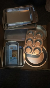 brand new stainless steel baking stuff