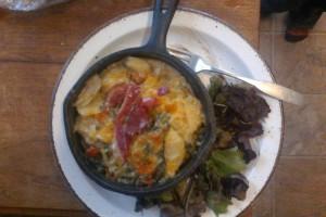 child sized au gratin skillet meal