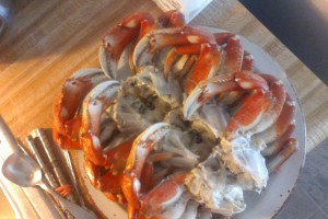 3 crabs cooked