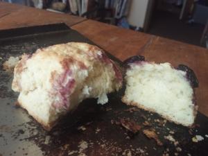 cherry scones opened up