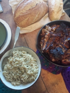 rice ribs and bread