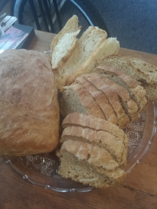 2 molasses breads and round cut up