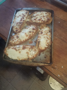homemade pizza bread from my round loaf