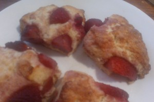 strawberry old fashioned cream scones