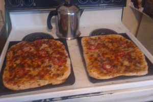 pizza's cooling