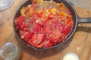 before: heirloom tomatoes with Italian seasonings