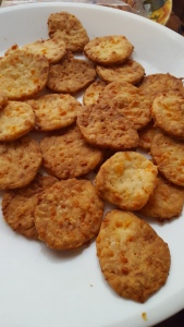 plateful of cooling crackers