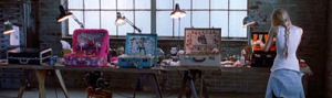 making the art suitcases in the movie