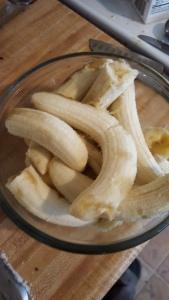 overripe peeled bananas