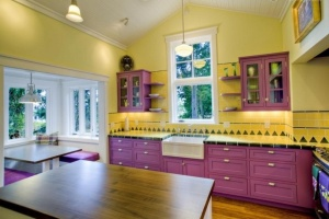 Purple-and-Yellow-Kitchen