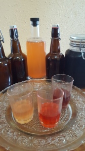 Strawberry Cordial and Elderberry cough syrup